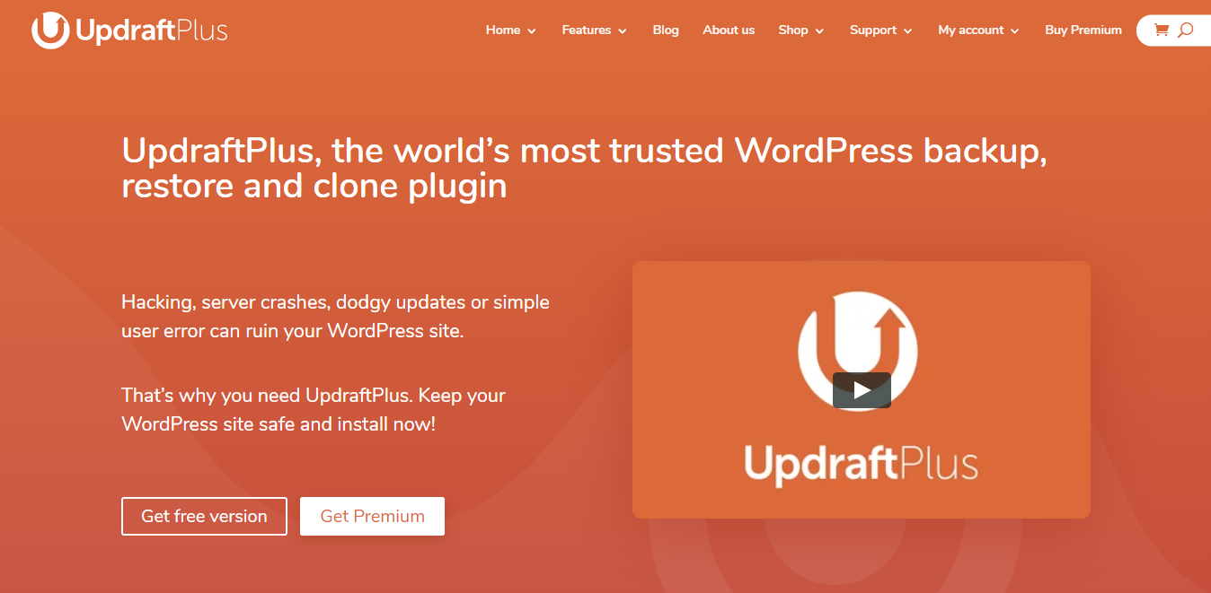 Updraft Plus Backup Plugin Download Page