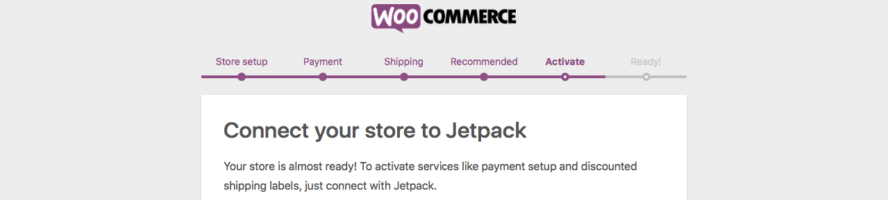 Activate Section in The Woocommerce Initial Settings