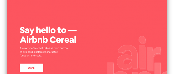 Airbnb Cereal is a Stunning Static Website