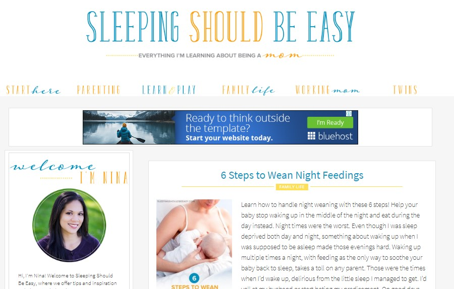 blog for mom sleeping should be easy
