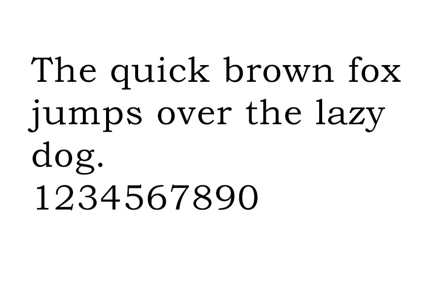 An example of the Bookman font.