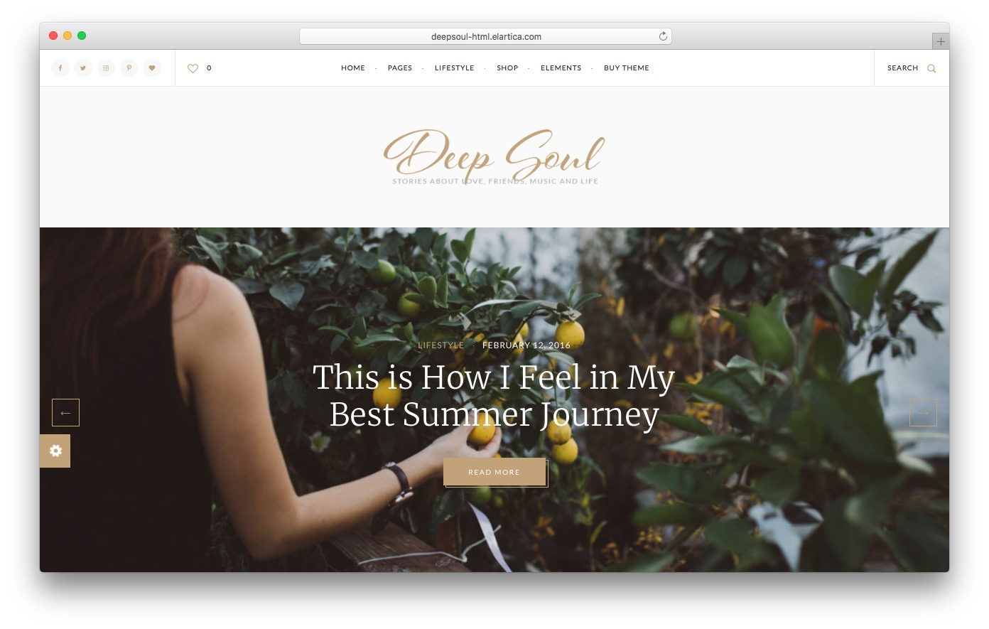 Deep Soul HTML template preview