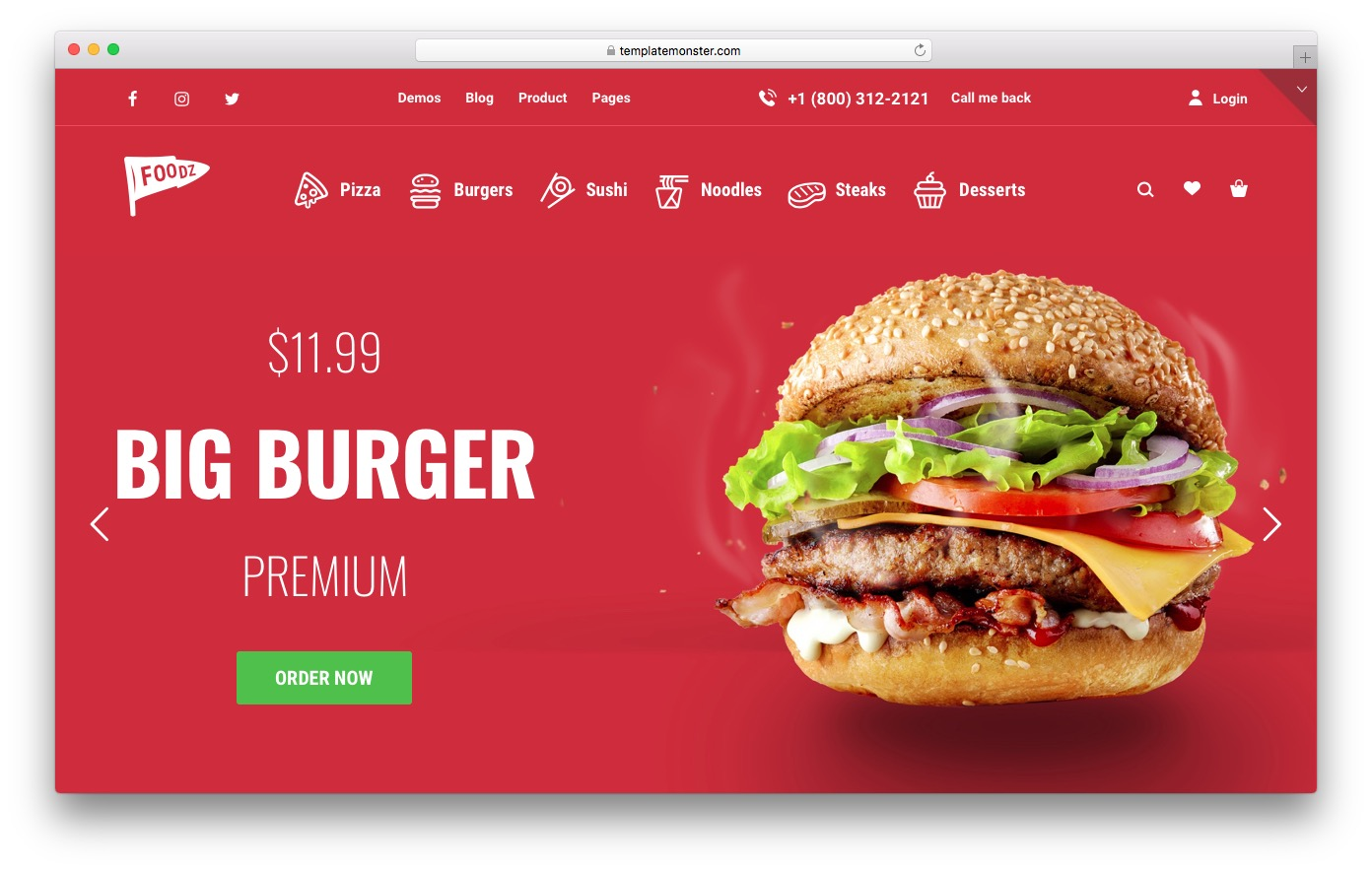 Foodz is a Nice Woocommerce Theme