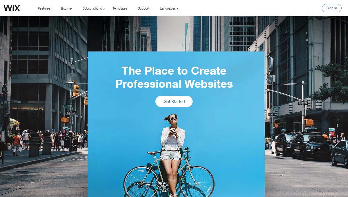 Wix Homepage