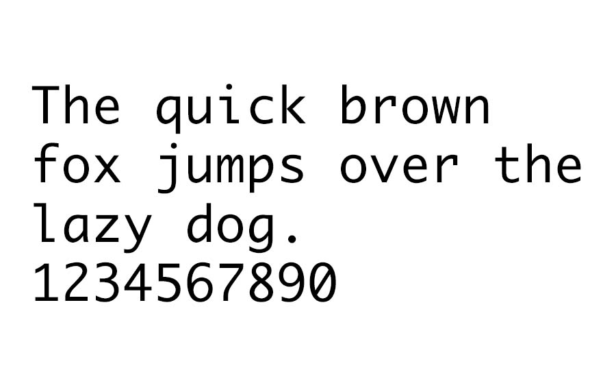 An example of the Monaco font.