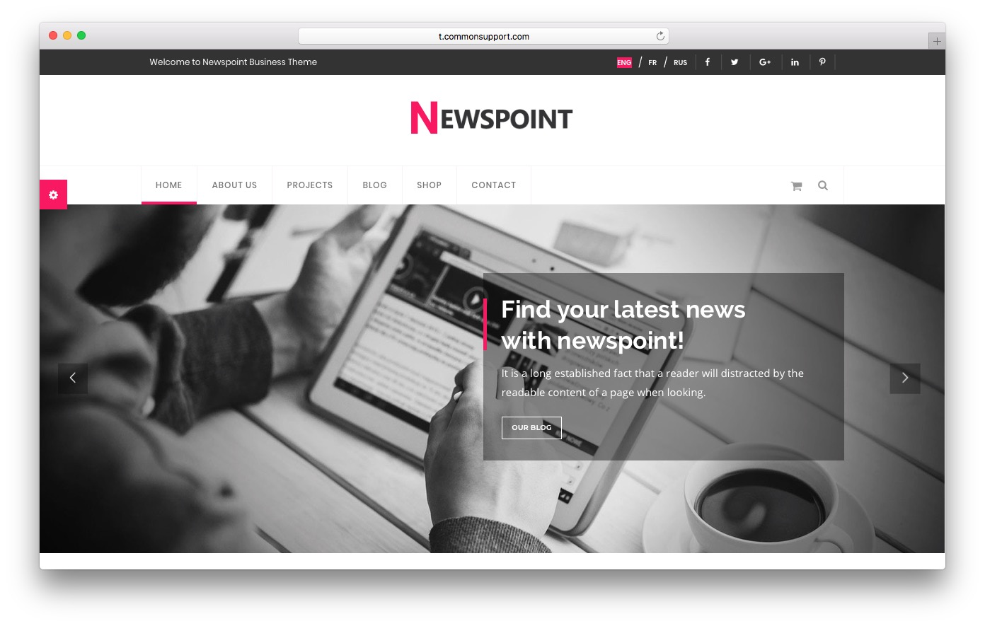Newspoint HTML template preview