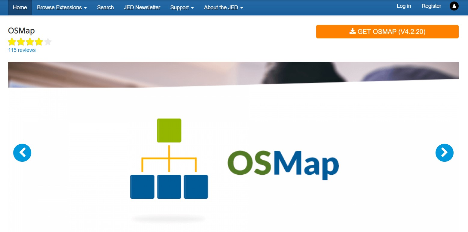 Downloading OSMap sitemap extension.