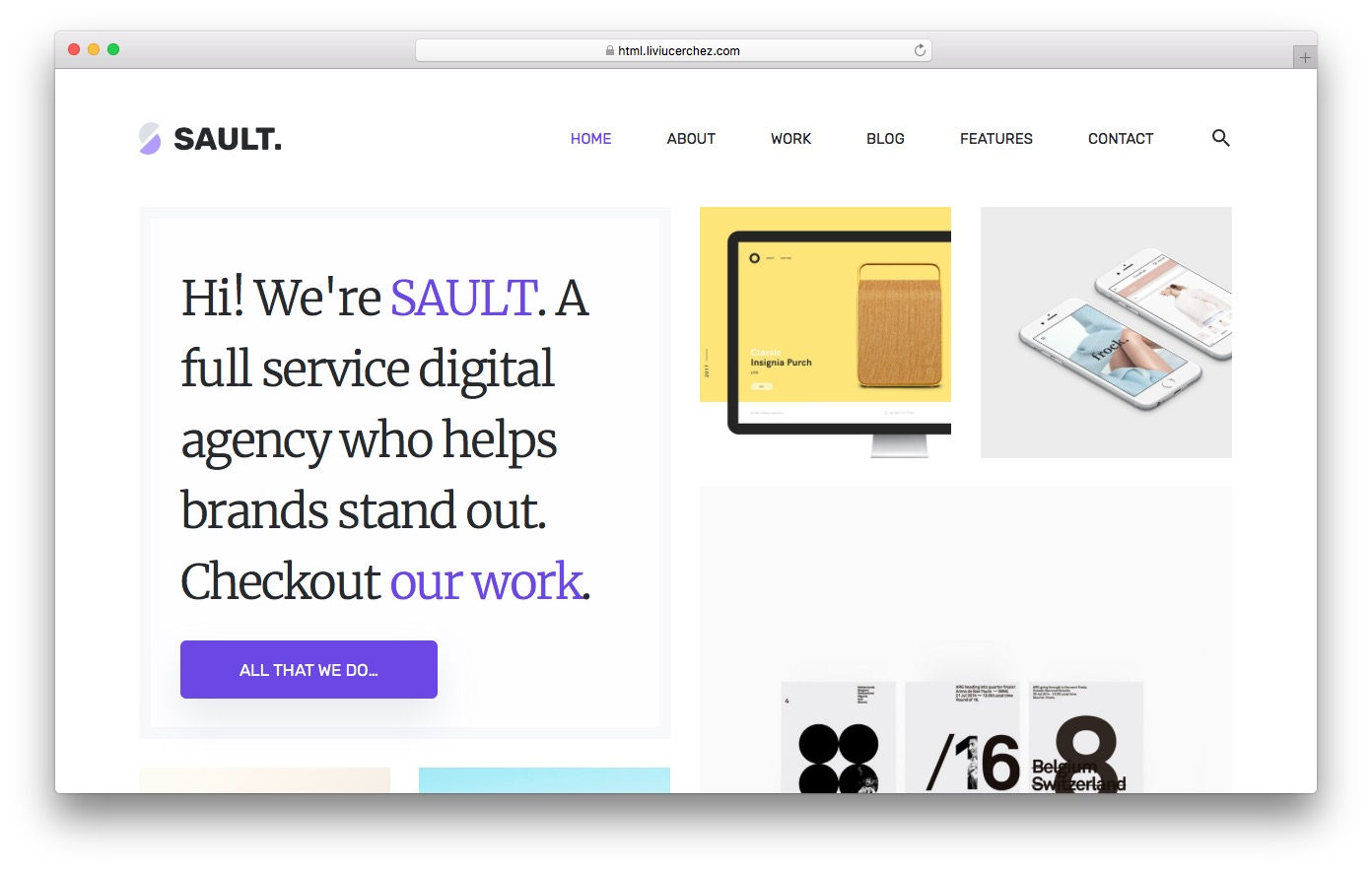 Sault HTML template preview