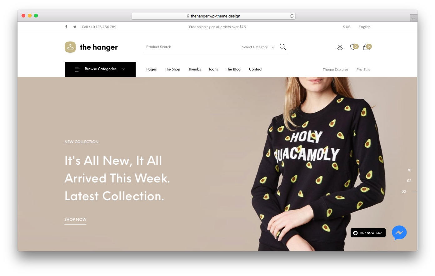 The Hanger is a Great for Ecommerce Site