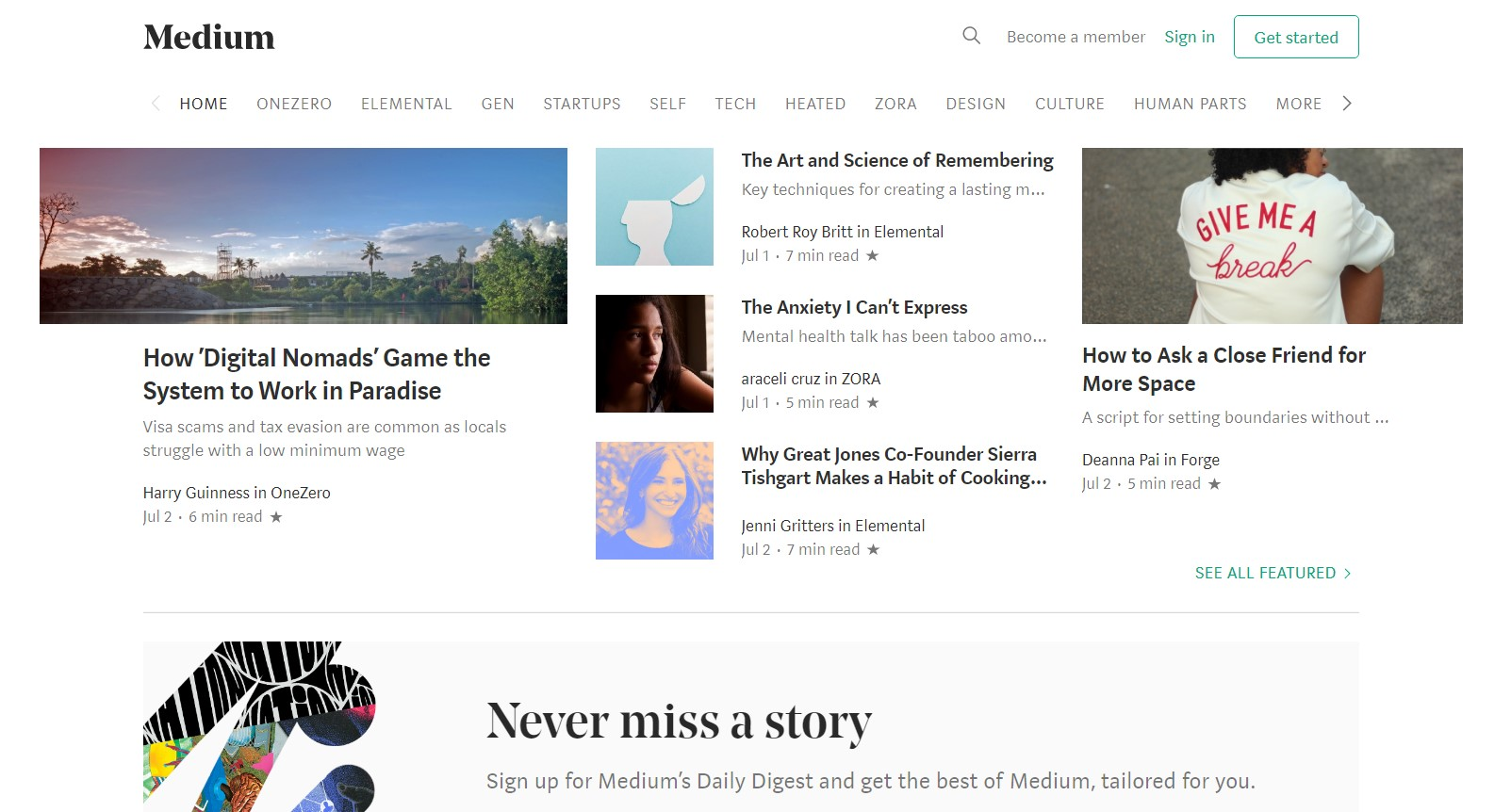 Medium does a great job at providing a simple blogging platform for everyone