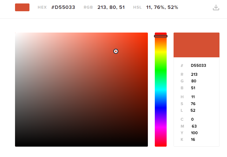 CSS color options.