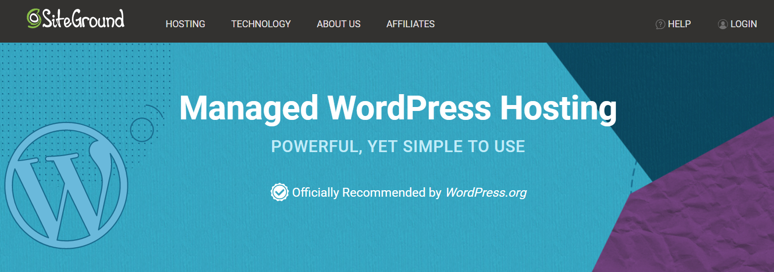 The official page of SiteGround WordPress hosting