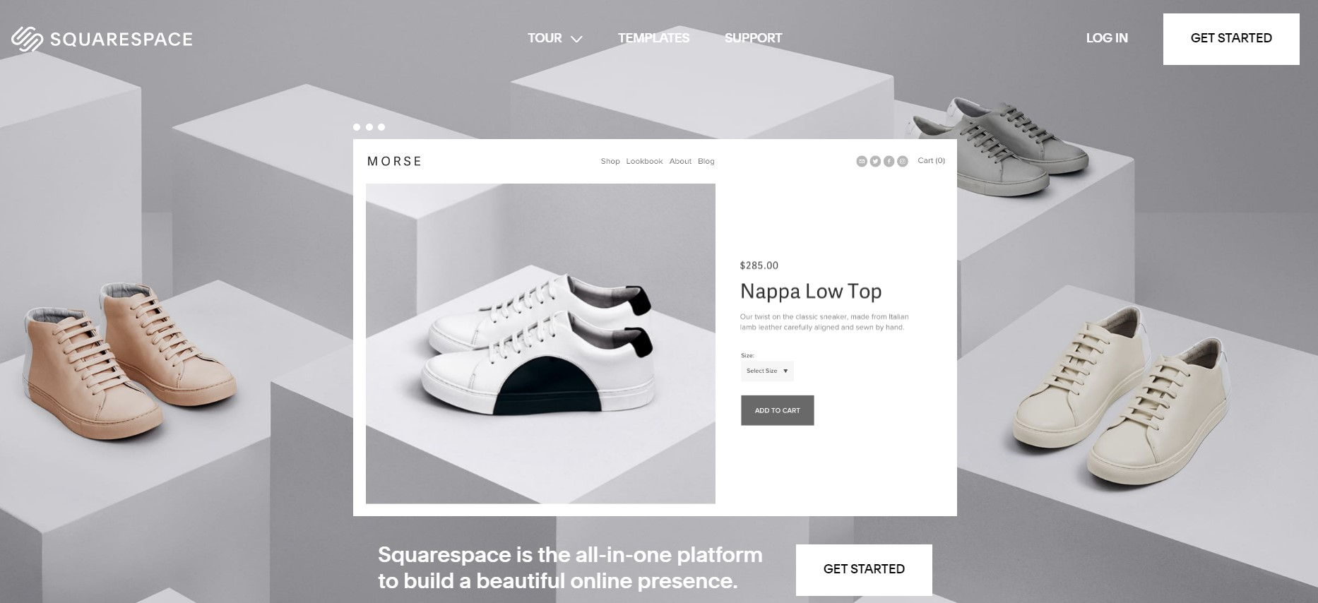 Squarespace has excellent visual details and for showing high-quality pictures