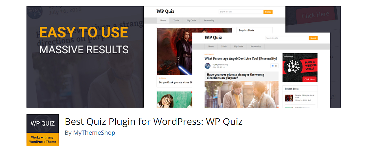WP quiz, wordpress quiz maker plugin.