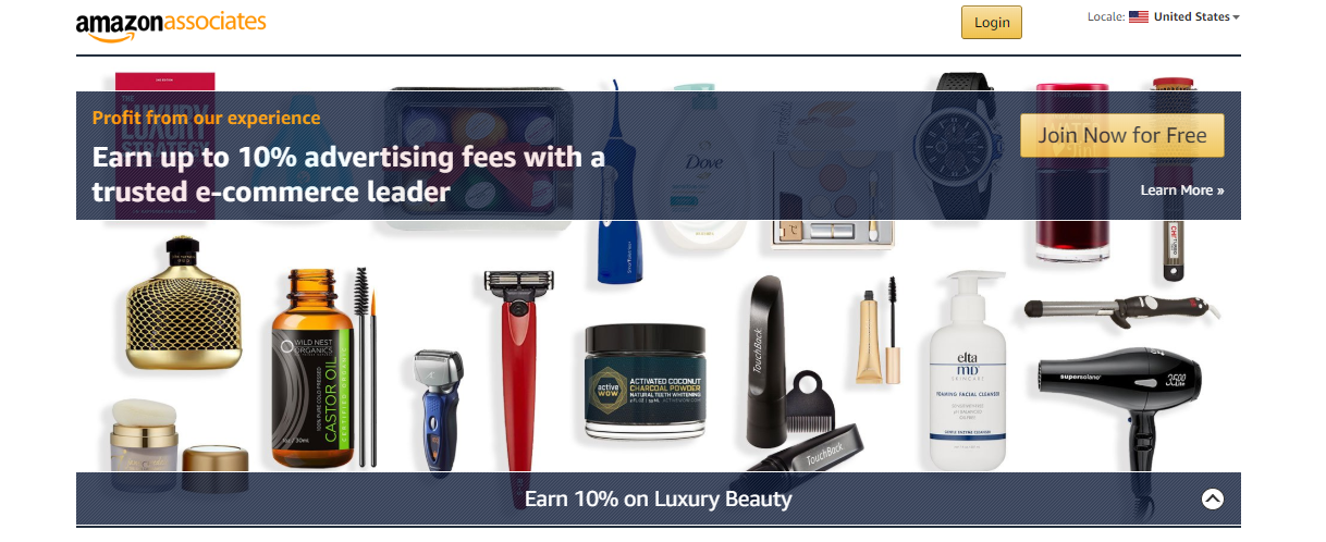 Amazon associates ad network homepage