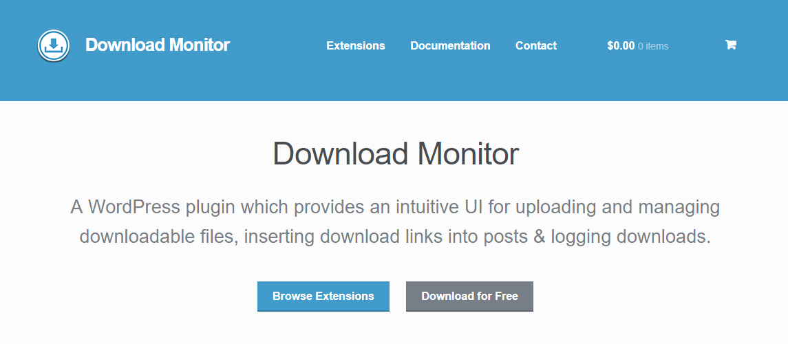 Download Monitor Homepage