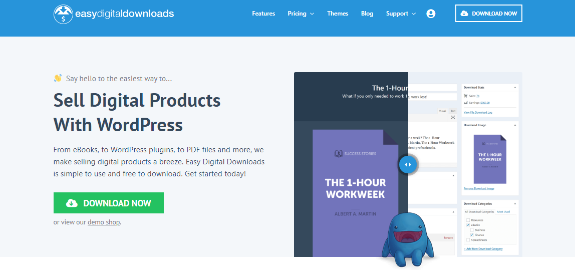 Easy Digital Download Homepage