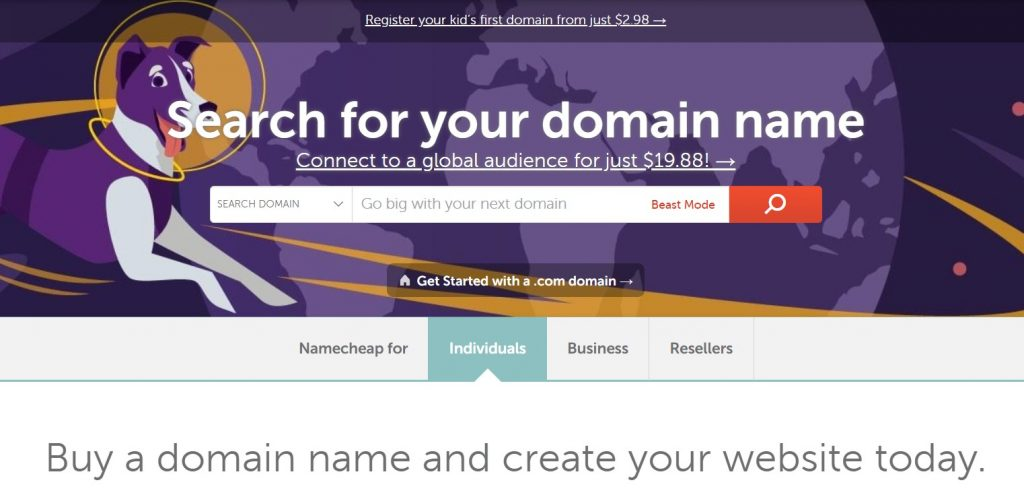 Namecheap domain name registrar