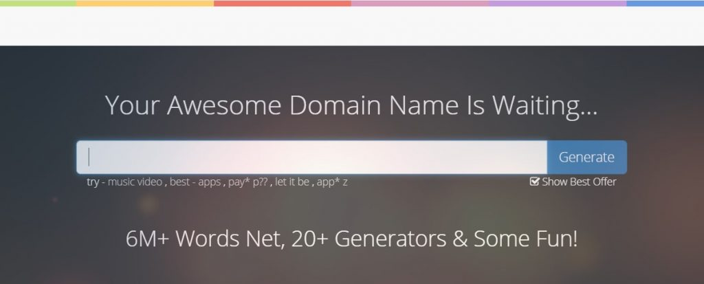 NameMesh domain name generator