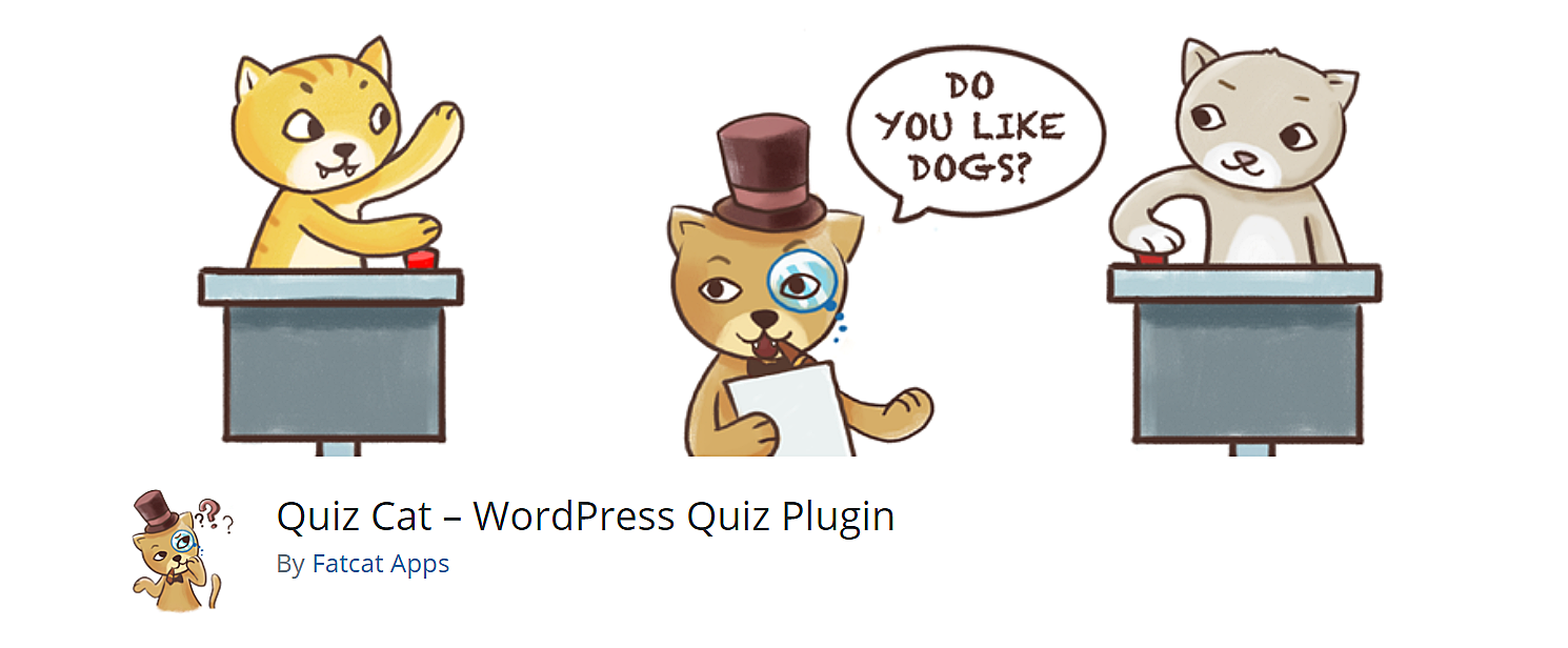 Quiz cat plugin. WordPress quiz maker.