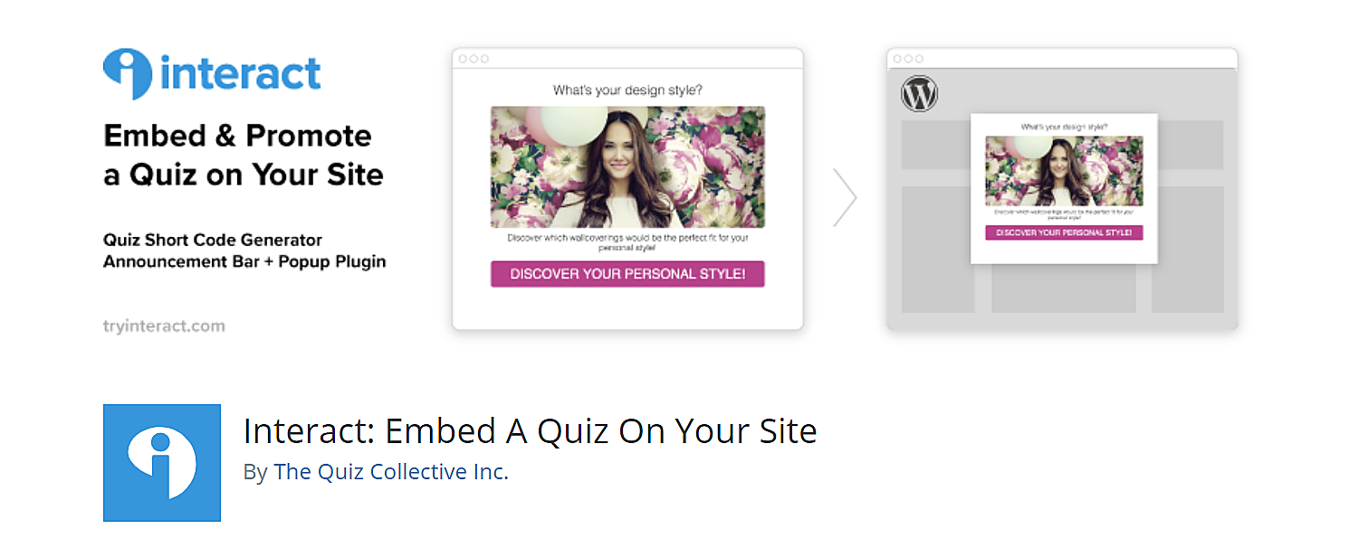 TryInteract WordPress quiz plugin