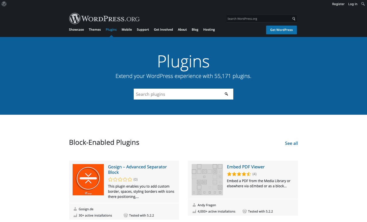 WordPress.org plugin directory