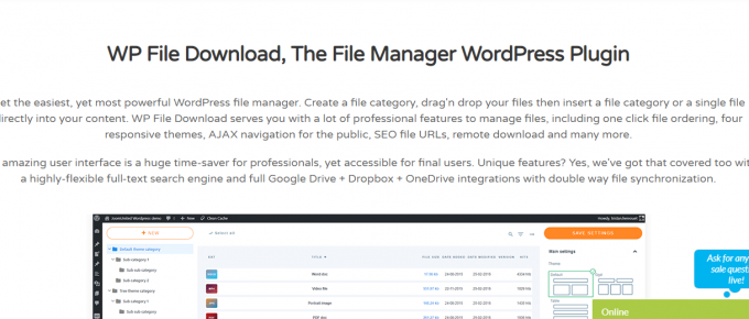 WP File Download Homepage