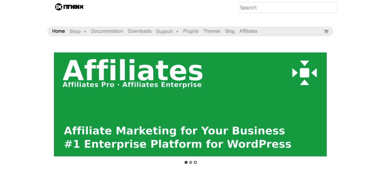 Affilates main home page.