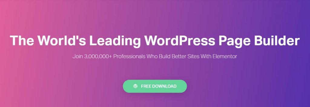 Elementor WordPress landing page plugin