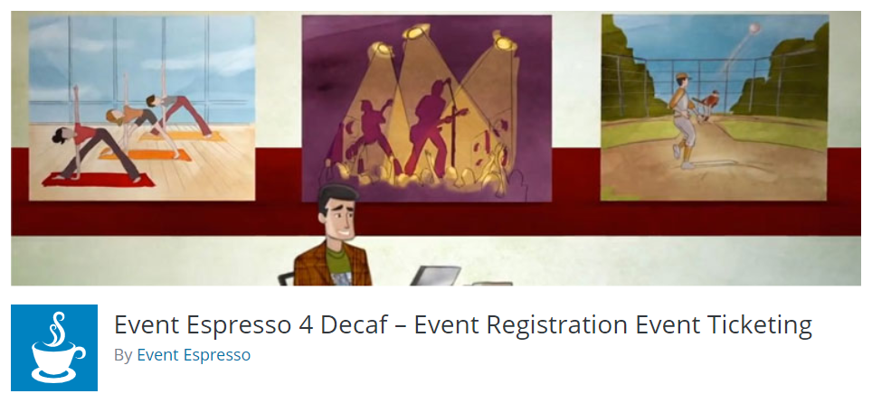 Event Espresso 4 Decaff WordPress plugin banner