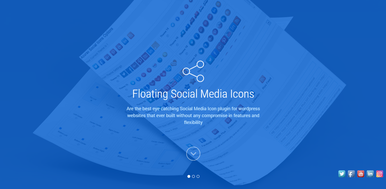 Social Media Flying Icon WordPress Social Media Plugin