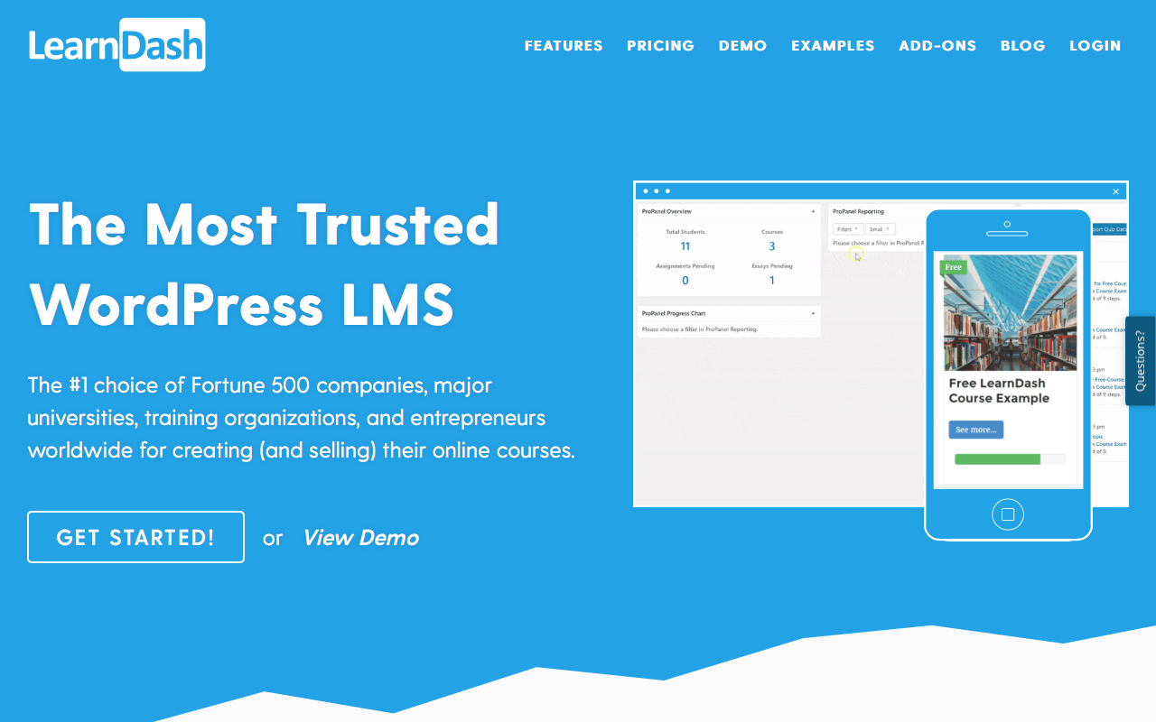 LearnDash is a WordPress LMS plugin for creating online courses.