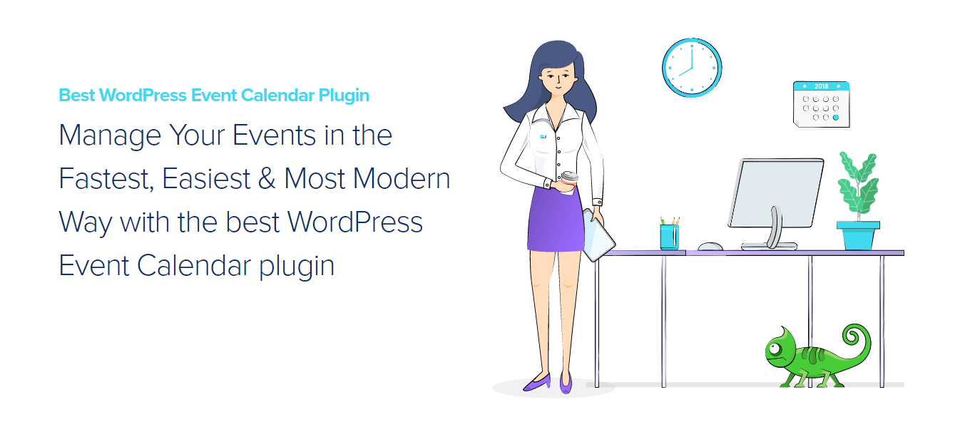 Modern Events Calendar WordPress events plugin homepage banner