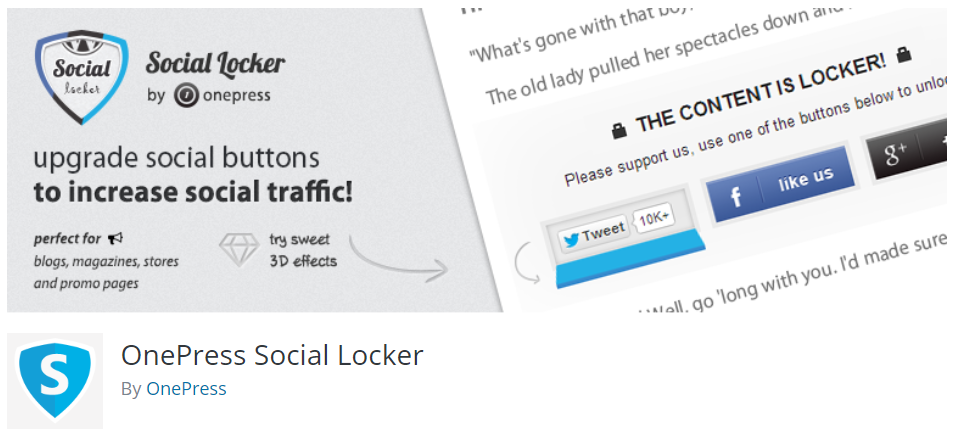 OnePress Social Media Locker Plugin