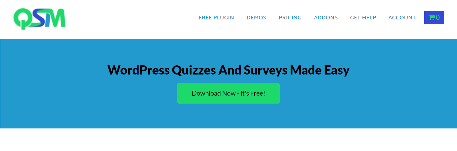 official homepage of quiz and survey master plugin