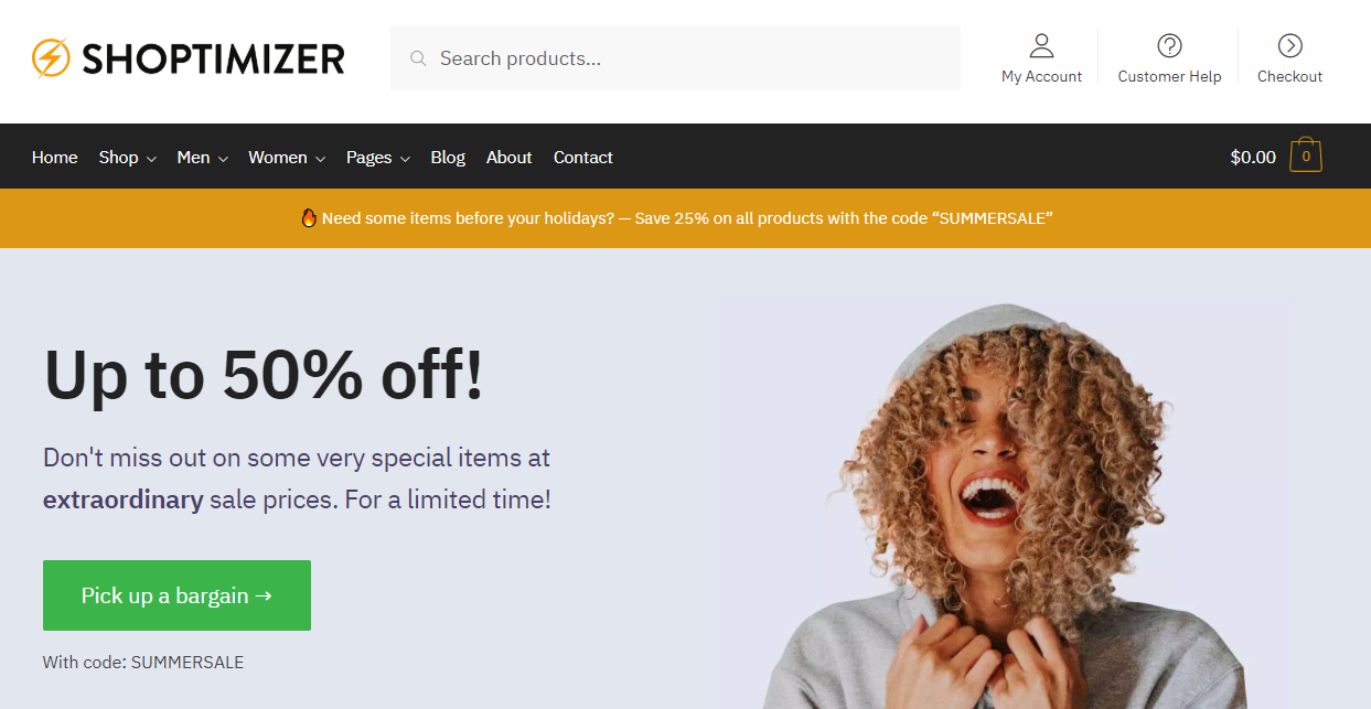 Shoptimizer banner