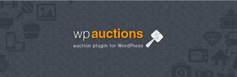 WP auctions plugin banner