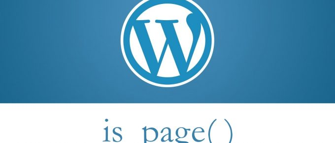 WordPress is_page conditional tag