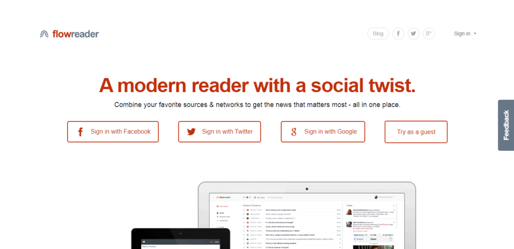 this image shows the FlowReader banner